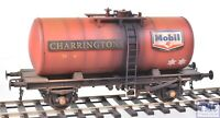 1004 Heljan O Gauge B Tank Mobil Charringtons Red with Deluxe Weathering by TMC