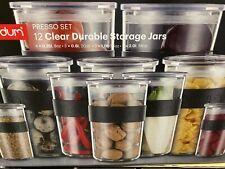 Bodum Presso 12 x Durable Storage Clear Jars Kitchen Food Storage Canisters
