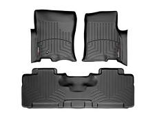 WeatherTech FloorLiner Mats for Expedition / Mountaineer 07-10 1st 2nd Row Black