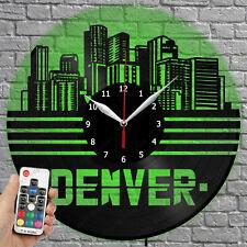 Led Clock Denver Vinyl Record Wall Clock Led Light Wall Clock 1950