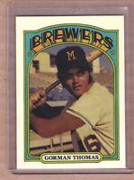 Gorman Thomas Milwaukee Brewers custom card by Bob Lemke 1972 style #788 🔥