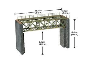 Noch 67010 Gauge H0, Laser-Cut Steel Bridge, 18,8 CM Long # New IN Boxed ##