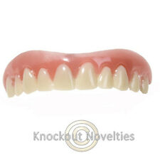 Instant Smile Teeth Upper Veneer Mouth Costume Billy Bob Prank Fake Tooth Smile