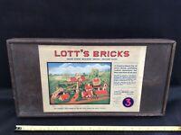 Lott's vintage bricks c1912 set no 3, used boxed.
