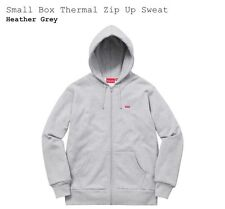 Supreme Box Logo Thermal Zip Up Sweater Heather Grey Size M Fall 2016 lacoste