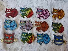 """CATS"" Vintage Vending Machine Stickers circa 1999 43 Shiny Cheshire Type Cats"