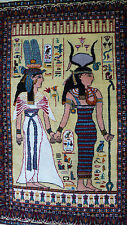 S. antigua Orient alfombra puente vintage Egyptian Pictorial Rug Isis and Hathor