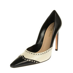 RRP €820 CHRISTIAN DIOR Leather Court Shoes Mismatch Size L 38 R 36.5 Two Tone