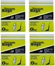 Type U Disposable Vacuum Cleaner Bags Compatible Eureka Bravo and Powerline 8 PK