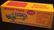 Dinky 193 Rambler Cross Country Station Wagon Empty Repro Box Only