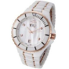 Oniss ON8015-MDD/RG Mens Watch Ceramic Rose Gold Accents White MOP Dial