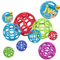 JW Pet Hol-ee Roller Original Treat Dog Ball Toy Natural Rubber -Assorted Colors