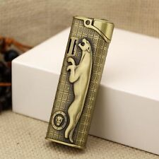 Leopard Cigar Butane Gas Refillable Lighter Jet Flame Cigarette Lighter