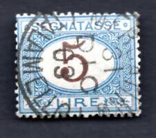 1870 ITALIA : Segnatasse - Lire 5 - usato