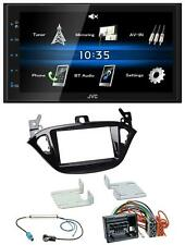 JVC USB 2DIN Bluetooth MP3 AUX Autoradio für Opel Adam ab 13 Corsa E ab 15