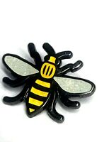 Manchester Bee Pin Badge Big Yellow Bee