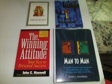 John C. Maxwell set of 3 books & 1 audio cassette set Christian positive