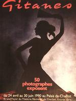 PUBLICITÉ DE PRESSE 1990 GITANES 50 PHOTOGRAPHES EXPOSENT - ADVERTISING