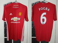 Manchester United MU 2016 2017 Pogba Adidas Home Red  Shirt Jersey Size S