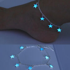 Jewelry Women Glow In The Dark Chain Anklet Ankle Bracelet Barefoot Sandal Beach