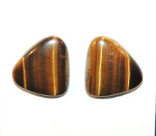 Tiger's Eye 18x16mm Cabochons Set of 2 From Africa (9136)
