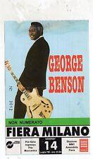 BIGLIETTO   ticket    GEORGE  BENSON   FIERA  DI  MILANO    14-7-1995