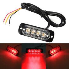 1Pc Car Truck Motorcycle Warning Flash Light Flashing Strobe Lamp Red LED 12/24v