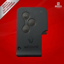 3-Button Remote SMART Card Key Housing Case Cover For Renault Megane 2 3