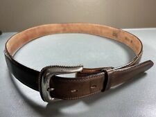 Tony Lama Western Mens Belt Size 36 Brown Leather Made In USA
