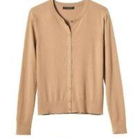 Banana Republic Cardigan NEW Camel Beige Cotton Cashmere Long Sleeve MSRP $54