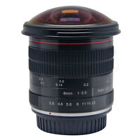 Meike 8mm f/3.5 Wide Angle Fisheye Lens for Canon DSLR Cameras 6D 70D 80D 550D