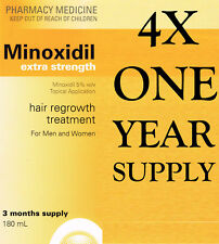 => MINOXIDIL 5%  SOLUTION ONE YEAR SUPPLY MEN WOMEN SAME AS REGAINE HAIR REVIVE