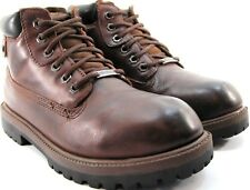Skechers Men Work Boots Size 9 Euro 42 Brown Water Proof Style 4442