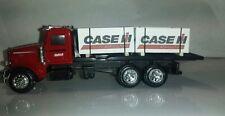 1/64 ERTL farm toy custom case ih Peterbilt truck w/ 4 cih skids speccast dcp