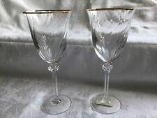 """More details for 2 royal doulton wine glasses """"vassar gold"""" unused"""