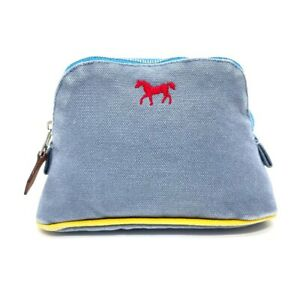 HERMES Baby Adada Bolide pouch Multi Pouch cotton blue