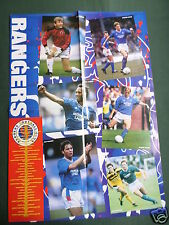 RANGERS  FOOTBALL -  TEAM PLAYERS - LARGE PULL OUT POSTER