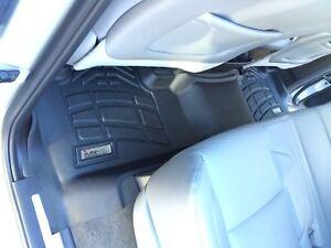 2nd row Floor Mats By Wade Black 2015 - 2020 GMC Yukon XL / Yukon XL Denali