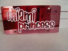 FLORIDA MIAMI PRINCESS LASER TAG LICENSE PLATE