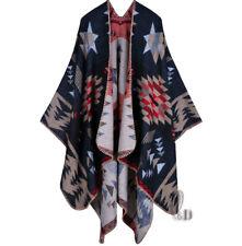 AU SELLER Blanket Poncho Cape Plaid Cloak Coat Warm Oversize SCARF/SHAWL sc072-1
