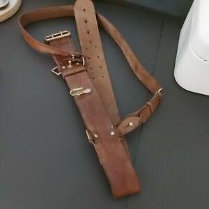 Military Vintage SAM browne leather Belt army