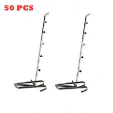 50pcs Supermarket Shelf Grid Hook Grid Wall Bracket Peg Board Metal Display Hook