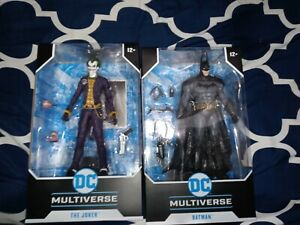 Mcfarlane DC Multiverse Arkham Asylum Batman and The Joker.