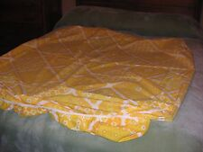 Vintage 70'S Pacific Miracle Tw Sz Flat Sheet Yellow Hippie Flower Power Modern