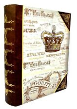 Punch Studio Decorative Nesting Book Box Royal Crown Gold Foil 60665 X-Large