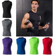 Para Hombre Secado Rápido Sin Mangas Gimnasio Correr Deportes Camiseta Prendas para el torso Athletic Apparel