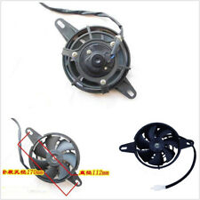 Black Motorcycle Electric Radiator Thermal Cooling Fan For 200cc 250cc 4 Wheeler