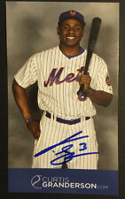 Curtis Granderson NY Mets Signed 3.5x6 Photo ins 3 Auto Autograph