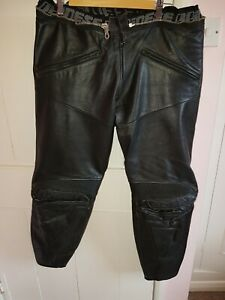 """DAINESE MENS LEATHER MOTORCYCLE TROUSERS - SIZE - Fits up to 38"""" Waist 31"""" Leg"""