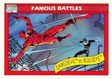 DAREDEVIL VS. BULLSEYE / Marvel Universe Series 1 (Impel 1990) BASE Card #94